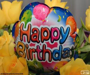 Puzzle de Globo Happy Birthday