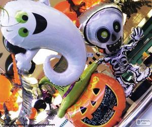 Puzzle de Globos de Halloween