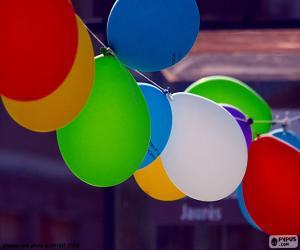 Puzzle de Globos para una celebración
