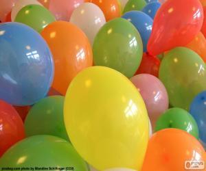 Puzzle de Globos para una fiesta