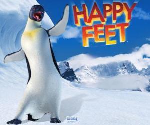 Puzzle de Gloria es un pinguino emperador hembra, Mumble está enamorado de Gloria en la película Happy Feet
