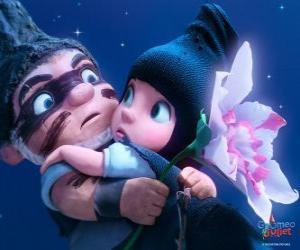 Puzzle de Gnomeo y Julieta, en una escena de la película