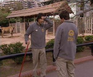 Puzzle de Gonzalo ve a Leandro en el zoo