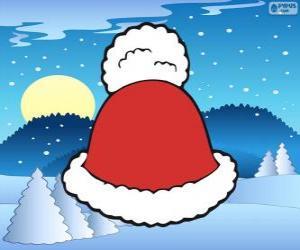 Puzzle de Gorro con borla blanca de Santa