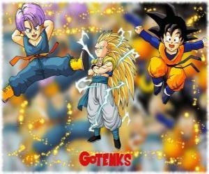 Puzzle de Gotenks, uno de los personajes más poderosos creado por la fusión entre Son Goten y Trunks