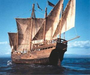 Puzzle de Gran barco pirata
