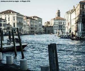 Puzzle de Gran Canal de Venecia, Italia