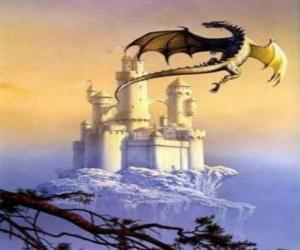 Puzzle de Gran dragón alado volando