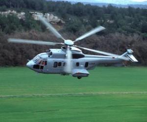 Puzzle de Gran helicóptero Cougar EC725
