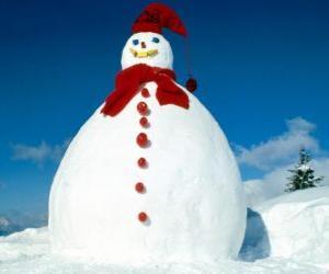 Puzzle de Gran muñeco de nieve