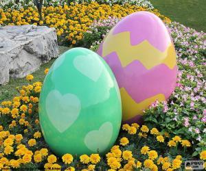 Puzzle de Grandes huevos de Pascua