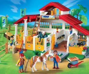 Puzzle de Granja Playmobil