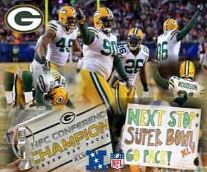 Puzzle de Green Bay Packers campeón de la NFC 2010-11