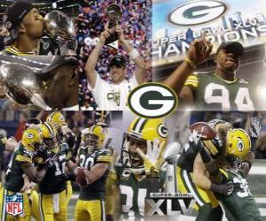 Puzzle de Green Bay Packers celebran su victoria en la Super Bowl 2011