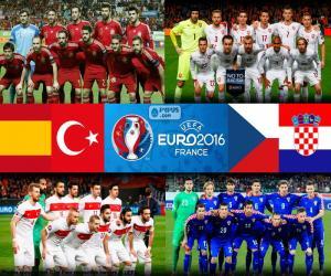 Puzzle de Grupo D, Euro 2016