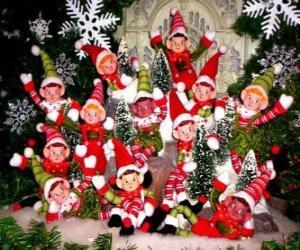 Puzzle de Grupo de duendes navideños