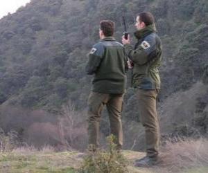 Puzzle de Guardas forestales