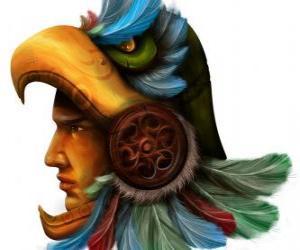 Puzzle de Guerrero azteca