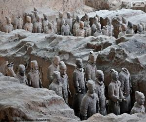 Puzzle de Guerreros de terracota, China