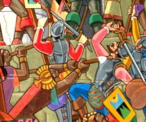 Puzzle de Guerreros Inca luchando