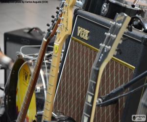 Puzzle de Guitarras y amplificador