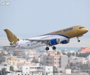 Puzzle de Gulf Air, aerolínea nacional del Reino de Baréin