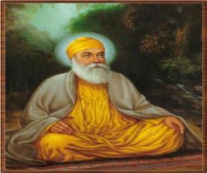 Puzzle de Gurú Nanak Dev, fundador del Sikhismo o Sijismo