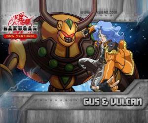 Puzzle de Gus y su Bakugan Vulcan