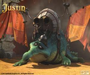 Puzzle de Gustav. Un cocodrilo que quiere volar y ser un dragón