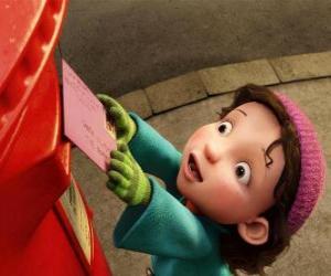 Puzzle de Gwen, la niña a la que Arthur debe entregar el regalo de Navidad