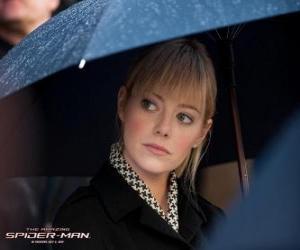 Puzzle de Gwen Stacy en el funeral de su padre
