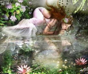 Puzzle de Hada Ondina, son ninfas acuáticas de espectacular belleza