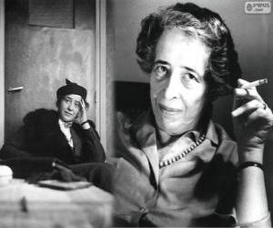 Puzzle de Hannah Arendt, filósofa política alemana y nacionalizada estadounidense de origen judío