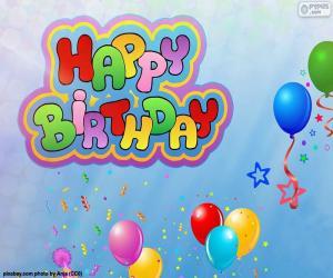 Puzzle de Happy Birthday, feliz cumpleaños