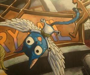 Puzzle de Happy es un gato que con magia puede tener alas, compañero inseparable de Natsu en las aventuras de Fairy Tail