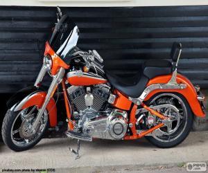 Puzzle de Harley Davidson naranja