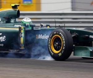 Puzzle de Heikki Kovalainen - Lotus - Estambul 2010