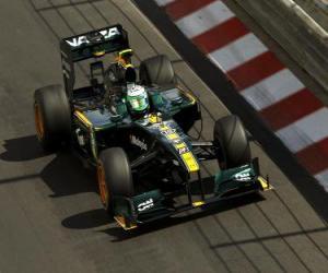 Puzzle de Heikki Kovalainen - Lotus - Monte-Carlo 2010
