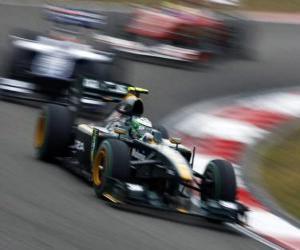 Puzzle de Heikki Kovalainen - Lotus - Shanghai 2010