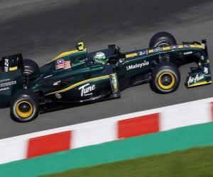 Puzzle de Heikki Kovalainen - Lotus - Spa-Francorchamps 2010