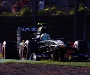 Puzzle de Heikki Kovalainen - Lotus - Suzuka 2010
