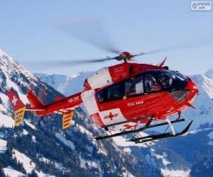 Puzzle de Helicóptero de rescate Suizo