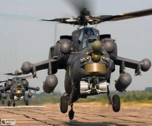 Puzzle de Helicóptero militar