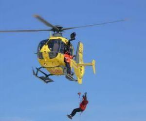 Puzzle de helicóptero de emergencia