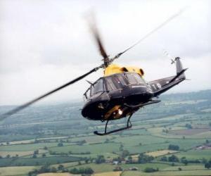 Puzzle de Helicóptero en acción