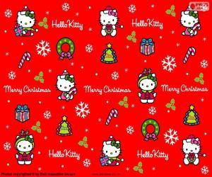 Puzzle de Hello Kitty en Navidad