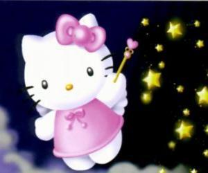 Puzzle de Hello Kitty es una hada entre las estrellas