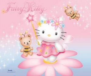 Puzzle de Hello Kitty, la hada del jardín