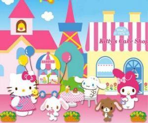 Puzzle de Hello Kitty y sus amiguitos disfrutando de un día en la Pastelería