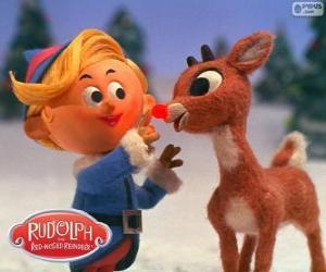 Puzzle de Hermey y Rudolph
